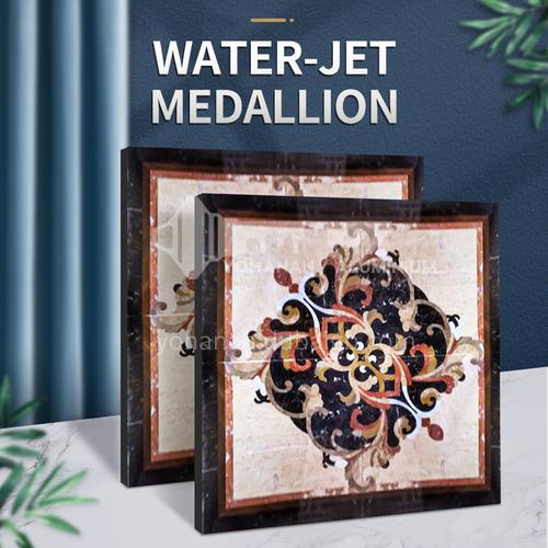 Modern high-end design natural marble stone medallion W-JS3041