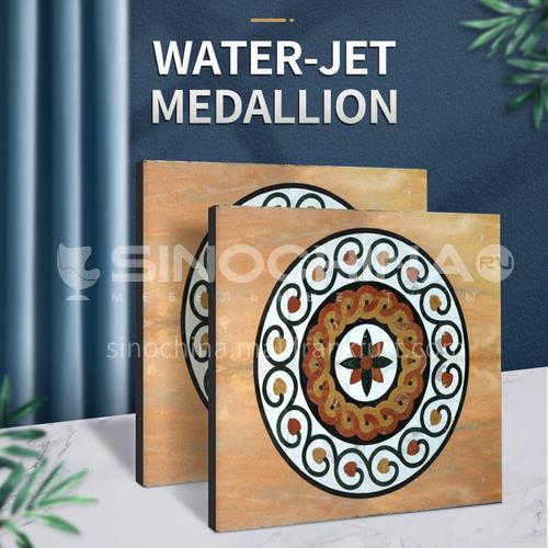 Modern high-end design natural marble stone medallion W-JS3059
