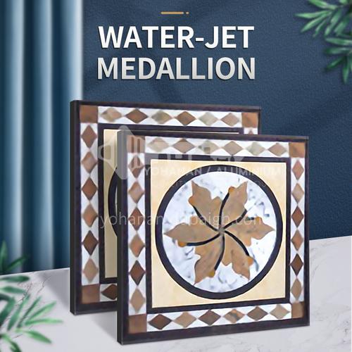 Modern high-end design natural marble stone medallion W-JS3093