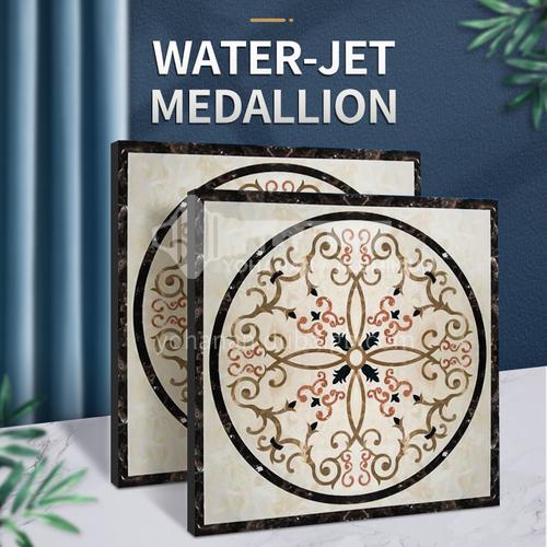 Modern high-end design natural marble stone medallion W-JS3188