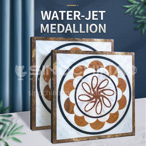 Modern high-end design natural marble stone medallion W-JS3193