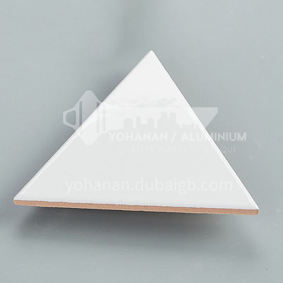 Nordic style kitchen wall tiles, personalized triangle bathroom tiles,   restaurant colorful glazed tiles-ADE triangle(white) 130×150mm