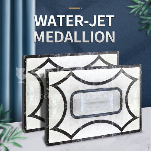 Modern high-end design natural marble stone medallion W-JR3128