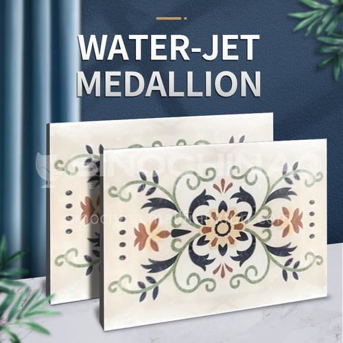 Modern high-end design natural marble stone medallionW-JR3147
