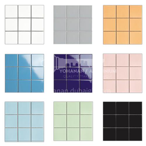 Ceramic swimming pool mosaic colorful tiles kitchen bathroom toilet wall tiles-ADELGBL 300*300mm