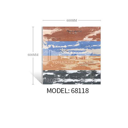 Nordic style art imitation solid wood grain tiles, non-slip floor tiles for guest   restaurants-ADE68118 600x600mm