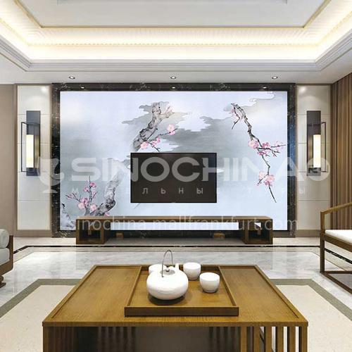 Hot selling modern style custom wall covering silk painting series 02SA8(1-10)