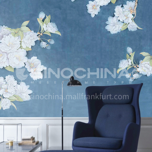 Gorgeous classical style custom wall covering silk painting series 02SA8(21-30)