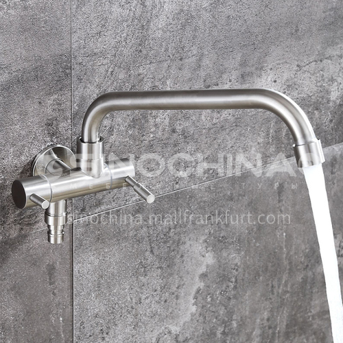 304 stainless steel single cold into the wall multifunctional faucet 20409C