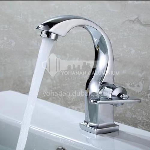 Basin single cold faucet, swan shape 20418