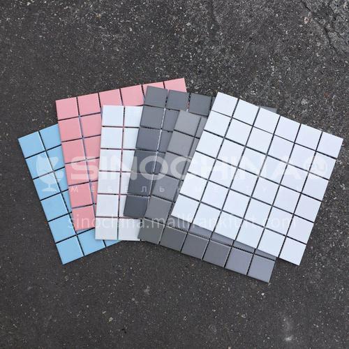 Ceramic swimming pool color mosaic tiles kitchen bathroom toilet wall tiles-ADEYG36G 300*300mm