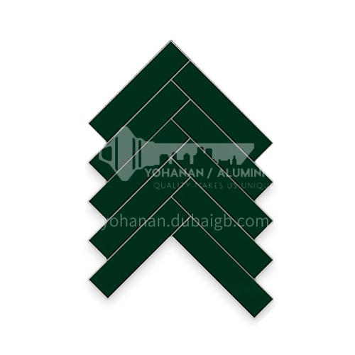 """נורדי מינימליסטי אריחי פסיפס פס ארוך בצבע אחיד אריחי קיר מטבח וחדר אמבטיה-ADE82009 ירוק כהה 145 × 32.5 מ""""מ"""
