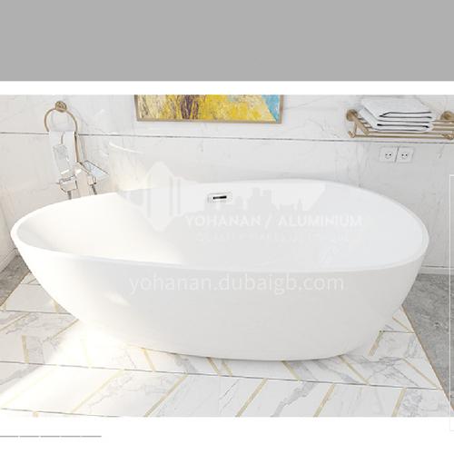 Acrylic oval shape freestanding bathtub