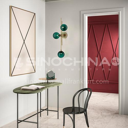 American minimalist living room creative glass wall lamp Nordic aisle bedroom bedside lamp study designer wall lamp YDH-7065