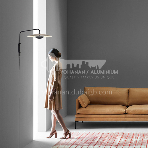 Italy Nordic minimalist creative living room wall lamp art bedside bedroom designer model room wall lamp YDH-7090