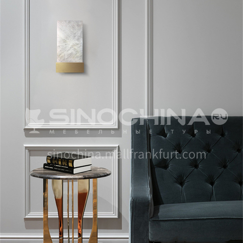 American minimalist living room marble wall lamp designer bedroom study aisle model room decoration lamp YDH-7169