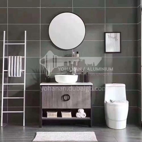 80CM Multilayer Solid Wood Bathroom Cabinet 60898