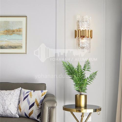American minimalist living room background wall lamp post-modern light luxury designer model bedroom bedside aisle wall lamp YDH-7229