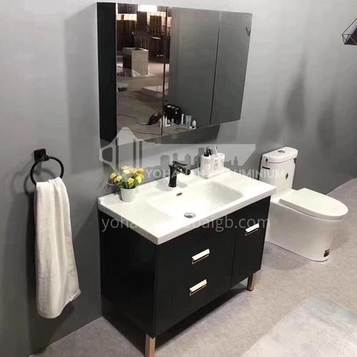 80CM simple modern bathroom cabinet solid wood paint free bathroom cabinet 60907