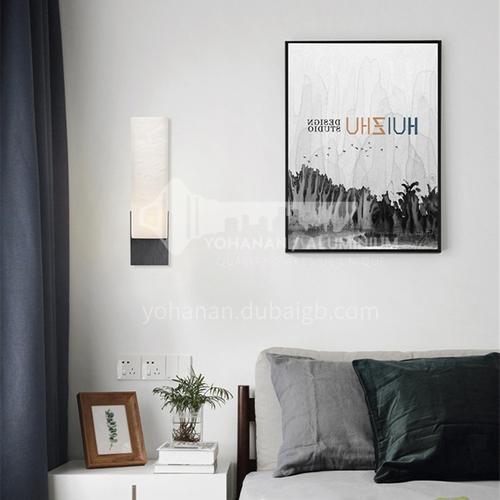American minimalist living room marble wall lamp hotel designer model room aisle bedroom bedside study wall lamp YDH-7243