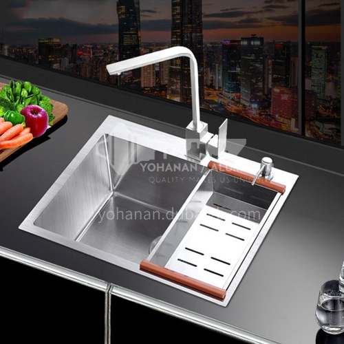 201 brushed stainless steel single-bath kitchen sink WJW-12