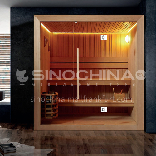 Non-standard customized multi-person sauna room Khan steam room Dry steam room equipment Sauna room customization AO-105