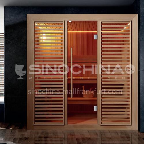 Non-standard customized multi-person sauna room Khan steam room Dry steam room equipment Sauna room customization AO-106