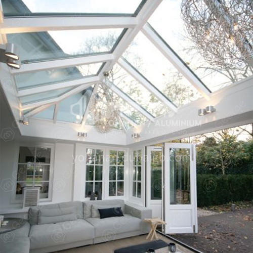 low-e glass sunroom \/green house from foshan factory