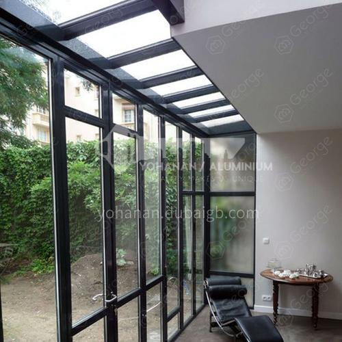 aluminum prefabricated glass conservatory steel frame sunroom
