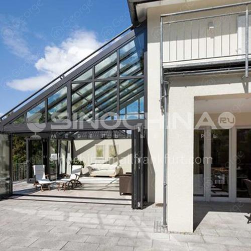 new design good quality aluminum profile sunrooms glass houses  roof