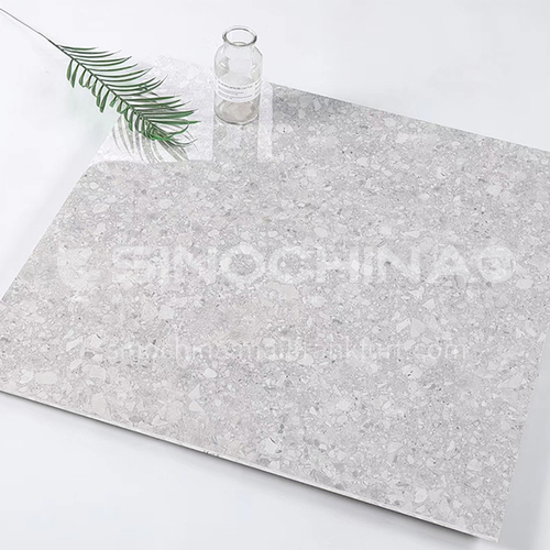 Whole body bright terrazzo tiles, home garden non-slip floor tiles, shopping malls and hotels wear-resistant floor tiles-ADE80081 800*800mm