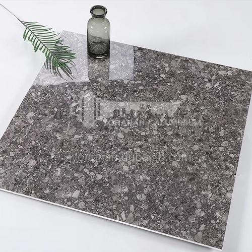 Whole body bright terrazzo tiles, home garden non-slip floor tiles, shopping malls and hotels   wear-resistant floor tiles-ADE80082 800*800mm
