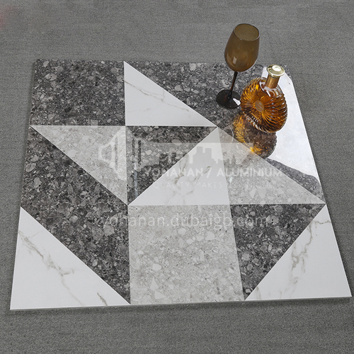 Whole body bright terrazzo tiles, home garden non-slip floor tiles, shopping malls and hotels   wear-resistant floor tiles-ADE80083 800*800mm