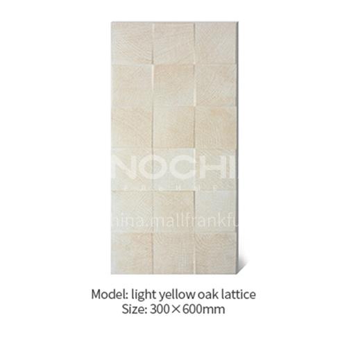 American concave-convex lattice oak white wood grain antique brick Japanese-style cultural brick background wall balcony brick-AWM36A20 300X600mm