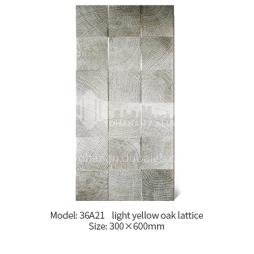 American concave-convex lattice oak white wood grain antique tile Japanese-style cultural tile   background wall balcony tile-AWM36A21 300X600mm