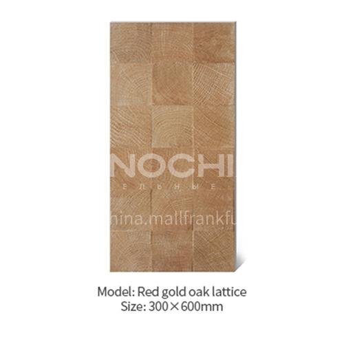 American concave-convex lattice oak white wood grain antique tile Japanese-style cultural tile   background wall balcony tile-AWM36A22 300X600mm