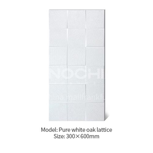 American concave-convex lattice oak white wood grain antique tile Japanese-style cultural tile   background wall balcony tile-AWM36A28 300X600mm