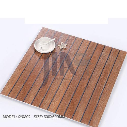 American ceramic tile, retro mold, antique wood grain tile, villa courtyard bumpy non-slip floor   tile-AWMXY0802 600×600mm