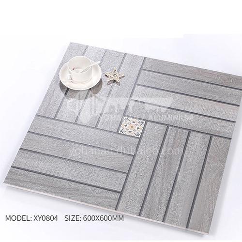 American ceramic tile, retro mold, antique wood grain tile, villa courtyard bumpy non-slip floor   tile-AWMXY0804 600×600mm