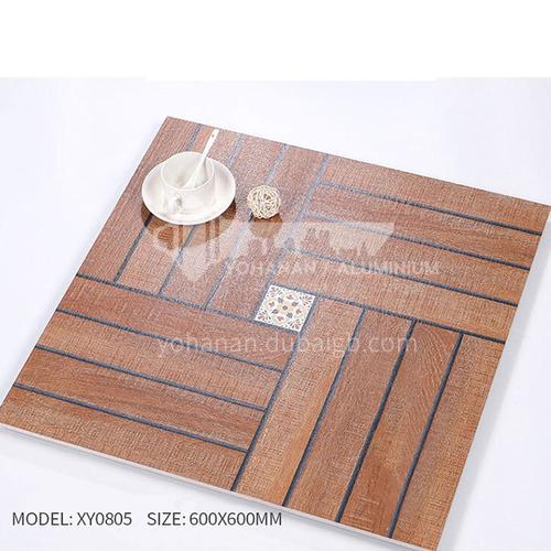 American ceramic tile, retro mold, antique wood grain tile, villa courtyard bumpy non-slip floor   tile-AWMXY0805 600×600mm