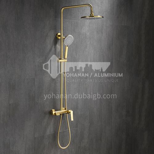 Bathroom full copper light luxury wind hot and cold water European golden shower set, lift shower, toilet shower KSH-2706L
