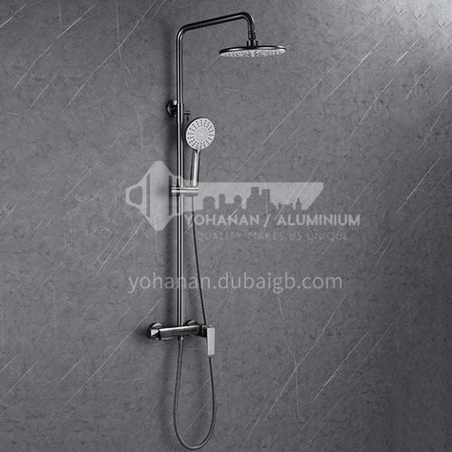 Bathroom gun black light luxury nordic bathroom household shower copper shower head rain shower three-function shower set KSH-2706Q