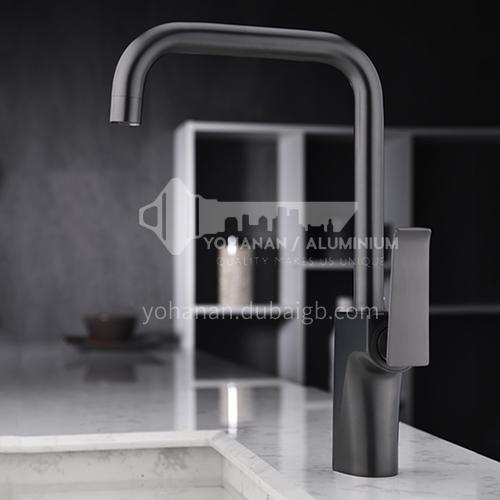 360°rotating copper industrial air gun black kitchen faucet KSH-2704Q