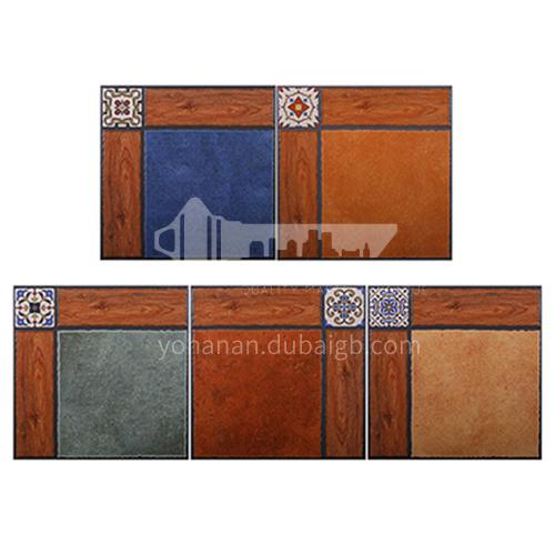 American antique balcony non-slip floor tiles, bathroom tiles, kitchen courtyard floor tiles-AWMYM33809DB 300x300mm