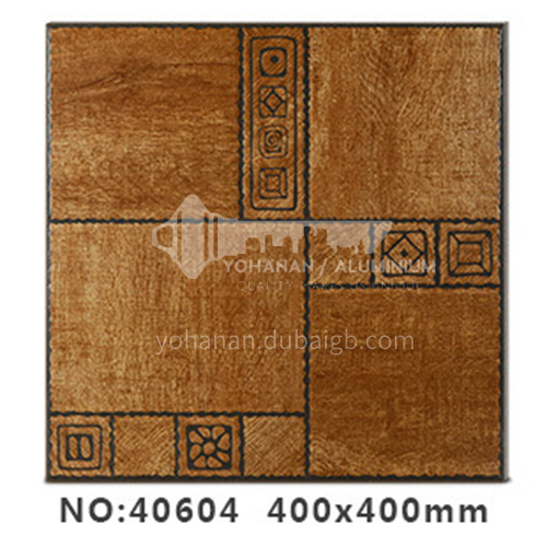 American country antique bricks imitation solid wood floor tiles rural style balcony courtyard   floor tiles-AWM40604 400x400mm