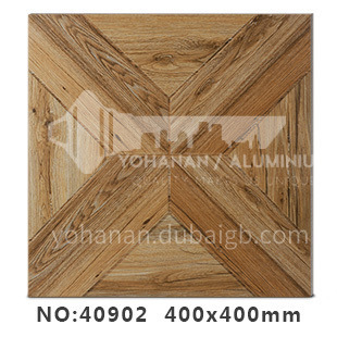 American country antique bricks imitation solid wood floor tiles rural style balcony courtyard   floor tiles-AWM40902 400x400mm