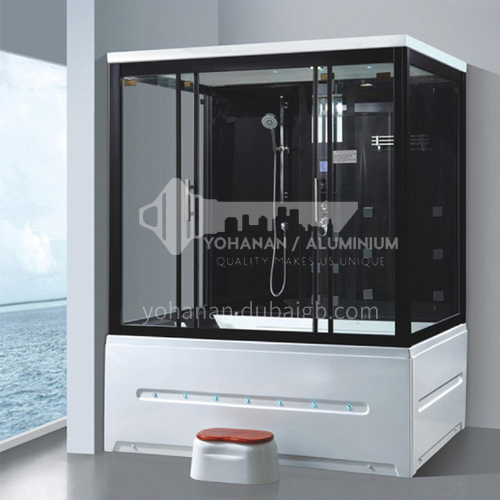 Luxury steam room 1700*1250*2200 integrated shower room with bathtub, toilet bathroom, integrated steam room AO-8103