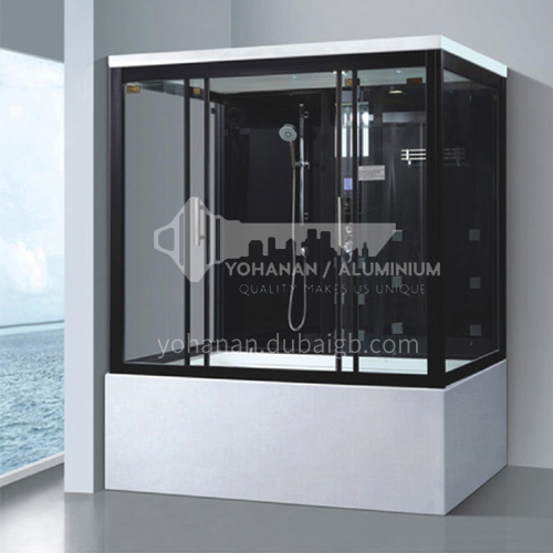 Luxury steam room 1500*800*2200 integral shower room with bathtub toilet bathroom integrated steam room AO-8104