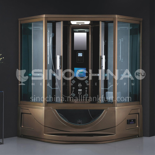 Luxury steam room 1650*1650*2150 integrated shower room with bathtub toilet bathroom integrated steam room AO-8105
