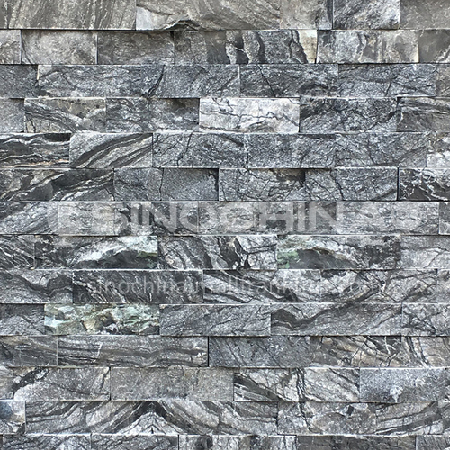 Cultural stone background wall natural stone mosaic wall brick outdoor villa outer wall brick running stone TV background wall-AWM-Ancient wood grain 150mm*600mm